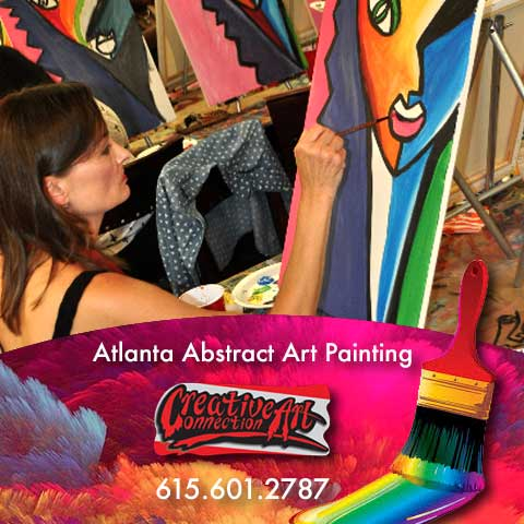 art lesson by Atlanta artist