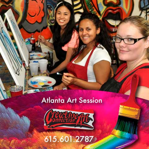 register for an art class Atlanta