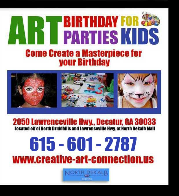 kids art classes - celebration for a special birthday, graduation, holiday, triump or achievement!