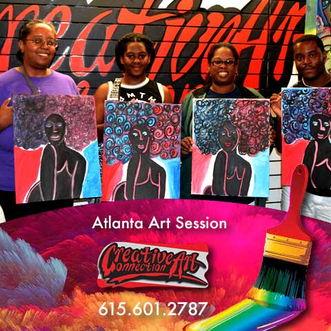 Atlanta Art Classes BYOB Painting Session