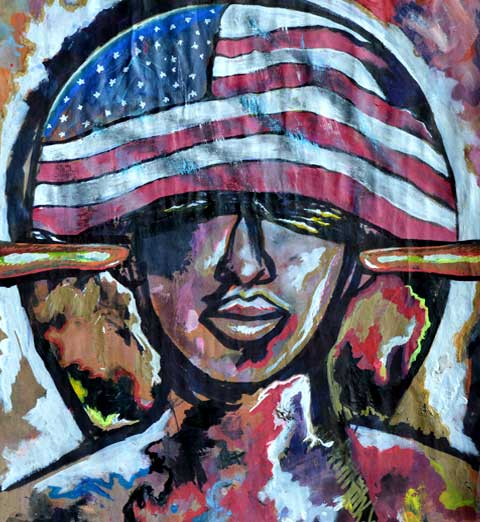 Urban Graffiti Art African American Woman Pride